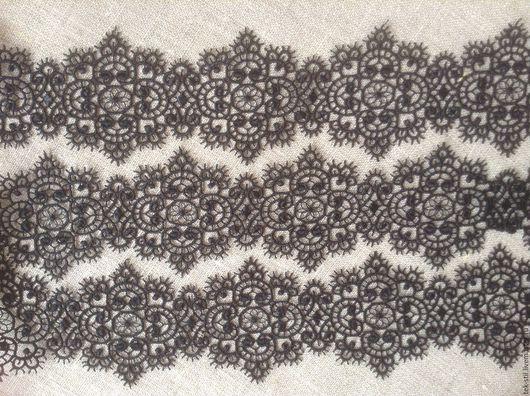 Шитье ручной работы. Ярмарка Мастеров - ручная работа. Купить Кружево макраме чёрное 5,5 см (49). Handmade.