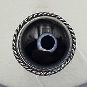Украшения handmade. Livemaster - original item Silver ring with black onyx 16 mm. Handmade.
