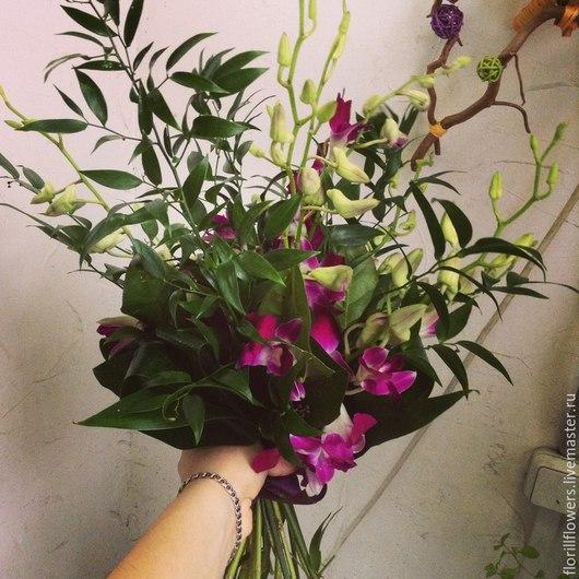 """Букеты ручной работы. Ярмарка Мастеров - ручная работа. Купить Букет """"Тай Рай"""". Handmade. Разноцветный, орхидеи, букет, цветы"""