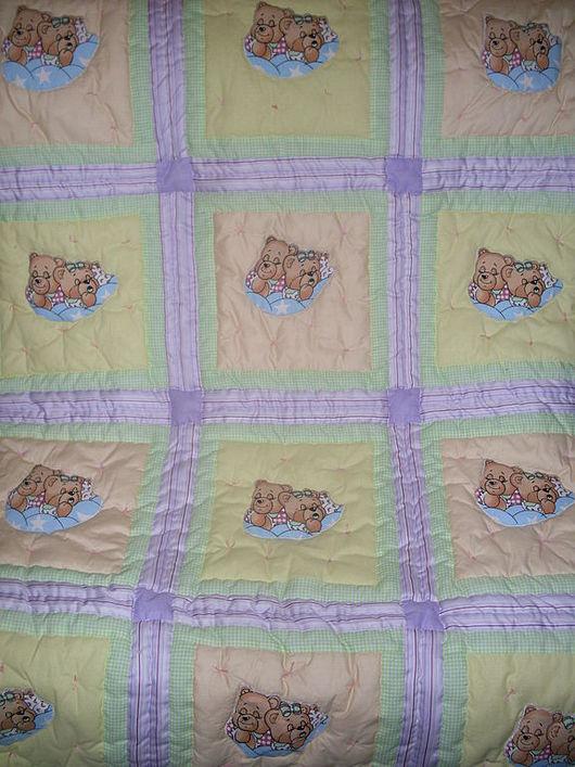 """Пледы и одеяла ручной работы. Ярмарка Мастеров - ручная работа. Купить Детское одеяло """"Мишки спят"""". Handmade."""