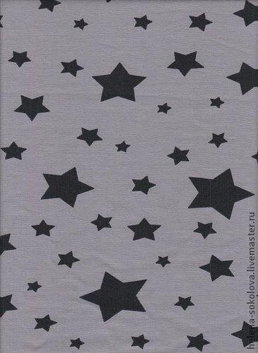 Шитье ручной работы. Ярмарка Мастеров - ручная работа. Купить Футер Звезды на сером. Handmade. Серый, ткань для шитья, ткани
