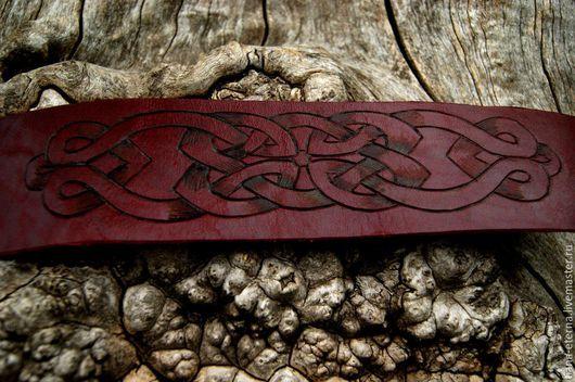"""Браслеты ручной работы. Ярмарка Мастеров - ручная работа. Купить Браслет кожаный  """"На любовь и гармонию"""" из чепрака.. Handmade."""
