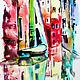Город ручной работы. Заказать Улочки Венеции, витражная роспись по стеклу. Юлия (Belasla). Ярмарка Мастеров. Картина, лодка, голубой