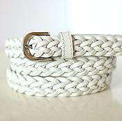 Straps handmade. Livemaster - original item White wicker belt. Handmade.