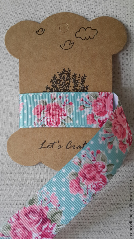 Шитье ручной работы. Ярмарка Мастеров - ручная работа. Купить Репсовая лента 25 мм шебби розы. Handmade.