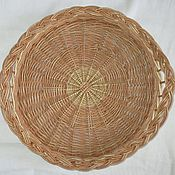 Для дома и интерьера handmade. Livemaster - original item Round tray from the vine. Handmade.