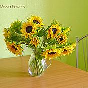 Цветы и флористика handmade. Livemaster - original item Bouquet of Sunflowers polymer clay.. Handmade.