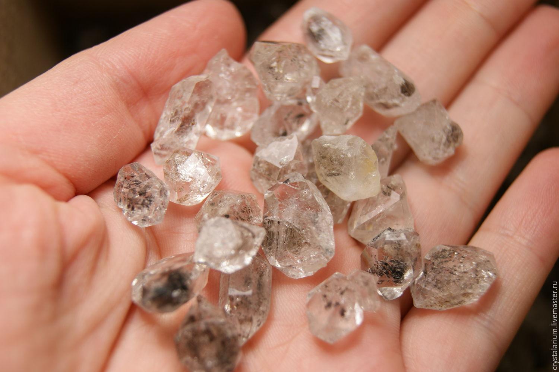 10 PCs - Herkimers diamond - quartz crystals dvuhhodovki, Minerals, Moscow,  Фото №1