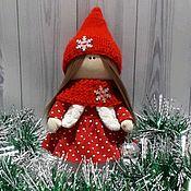 Тыквоголовка ручной работы. Ярмарка Мастеров - ручная работа Новогодняя кукла Гномочка. Handmade.