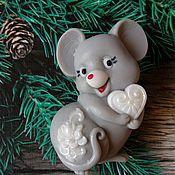 Косметика ручной работы handmade. Livemaster - original item Soap Mouse with heart. Handmade.