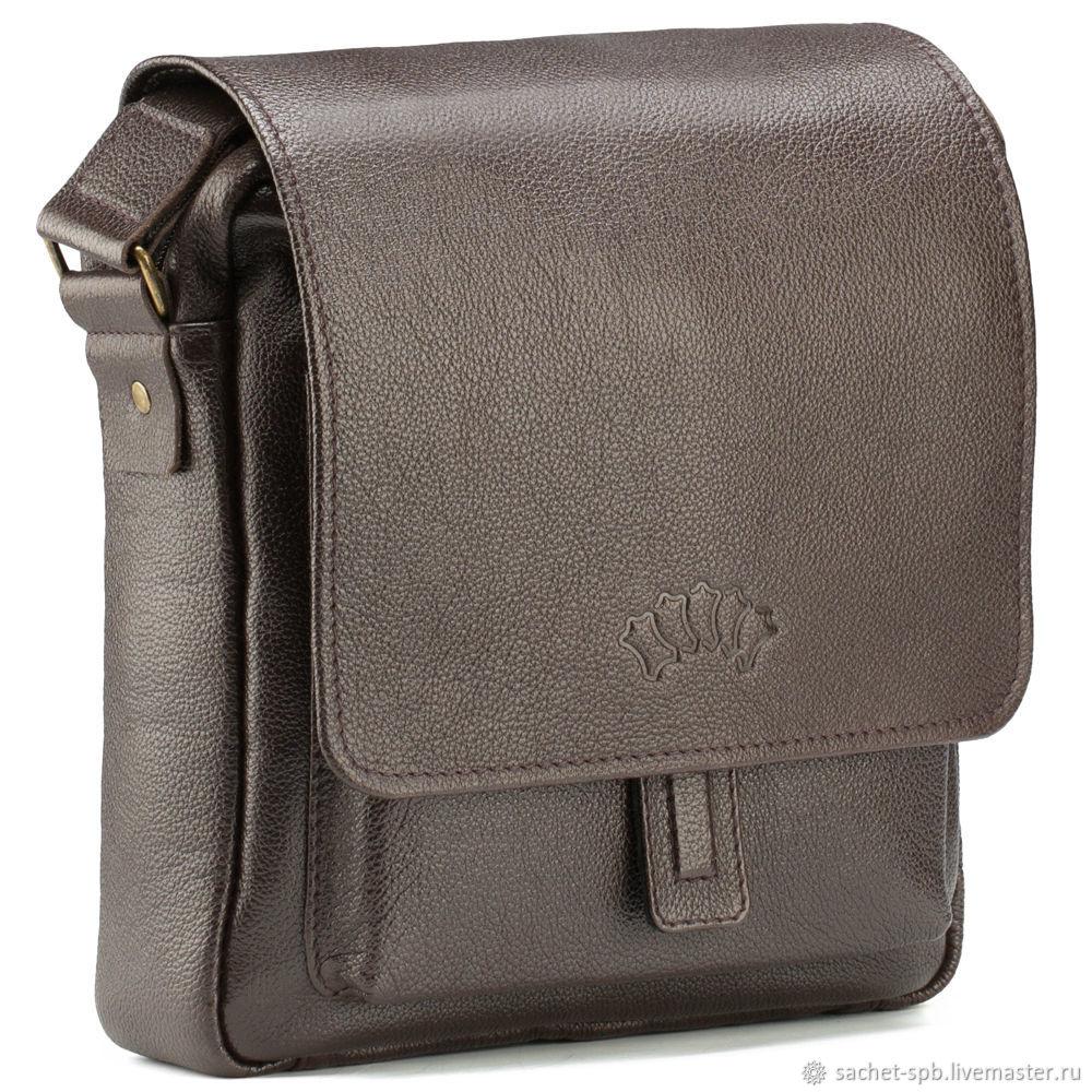 Leather crossbody bag 'Alex' (brown), Crossbody bag, St. Petersburg,  Фото №1