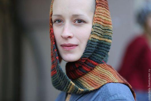 Шарфы и шарфики ручной работы. Ярмарка Мастеров - ручная работа. Купить Бактус Октябрь треугольный шарф исландская косынка. Handmade.