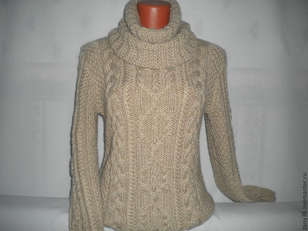 Вязать женский теплый свитер спицами схемы