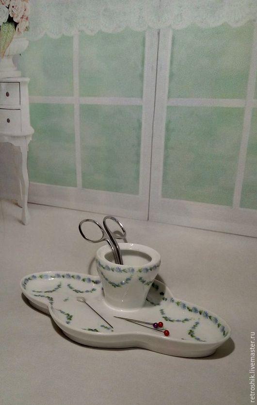 Винтажные предметы интерьера. Ярмарка Мастеров - ручная работа. Купить Солонка, пашотница, подставка. Handmade. Белый, рукодельнице