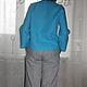 """Блузки ручной работы. Льняная рубаха """"Бирюза"""". ~Льняная лавочка~. Интернет-магазин Ярмарка Мастеров. Лен, льняная одежда"""