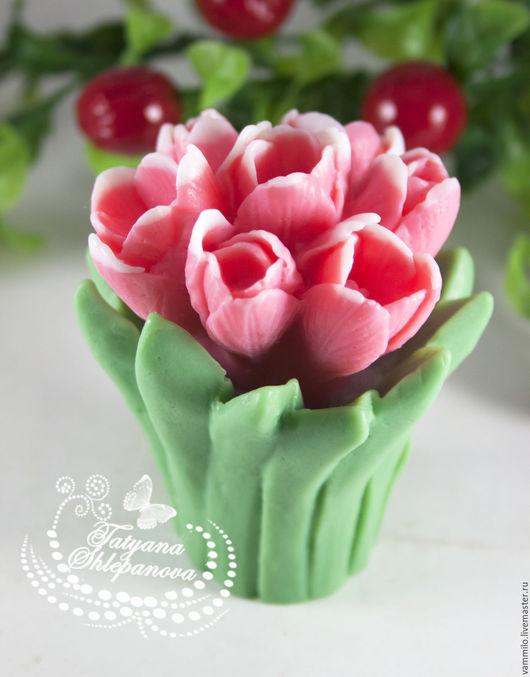 """Мыло ручной работы. Ярмарка Мастеров - ручная работа. Купить Мыло """"Букет тюльпанов"""". Handmade. Комбинированный, букет, тюльпаны"""