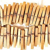 Русский стиль ручной работы. Ярмарка Мастеров - ручная работа Старые деревянные прищепки.. Handmade.