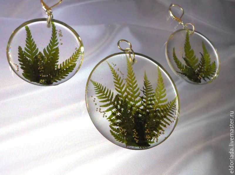 Witch's talisman (set, fern, jewelry resin), Jewelry Sets, Vitebsk,  Фото №1