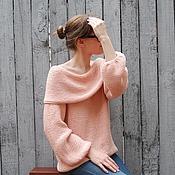Одежда ручной работы. Ярмарка Мастеров - ручная работа Pink Пуловер вязаный женский. Handmade.
