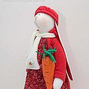 Куклы и игрушки ручной работы. Ярмарка Мастеров - ручная работа Зайцы новогодние. Handmade.