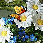 Украшения ручной работы. Ярмарка Мастеров - ручная работа Оранжевая бабочка Монарх из полимерной глины. Handmade.
