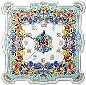 Для дома и интерьера handmade. Livemaster - original item Clocks, decorative,ceramic40cm square.. Handmade.