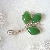 Украшения handmade. Livemaster - original item Brooch made of jade. Handmade.