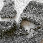 Аксессуары ручной работы. Ярмарка Мастеров - ручная работа детский вязаный комплект из козьего пуха. Handmade.