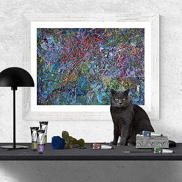 Картины и панно ручной работы. Ярмарка Мастеров - ручная работа ПОЛНОЛУНИЕ (26 октября 2018 года). Handmade.