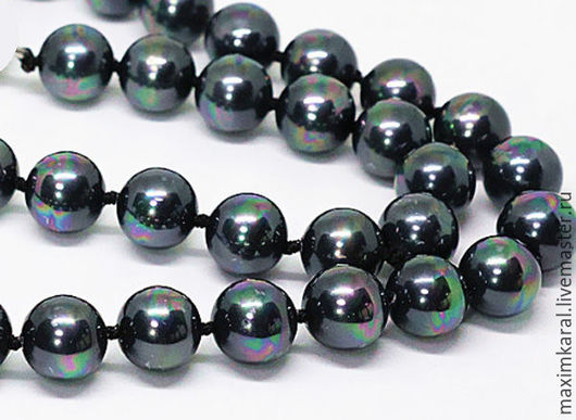 Для украшений ручной работы. Ярмарка Мастеров - ручная работа. Купить Жемчуг shell pearl Черный павлин 6,8,10,12 мм.. Handmade.
