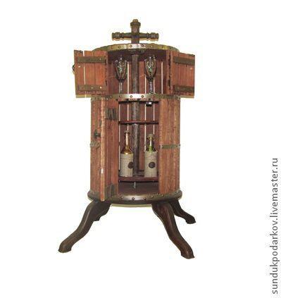 """Мебель ручной работы. Ярмарка Мастеров - ручная работа. Купить Бар""""Винный пресс"""". Handmade. Вино, кабинет, мужской подарок"""