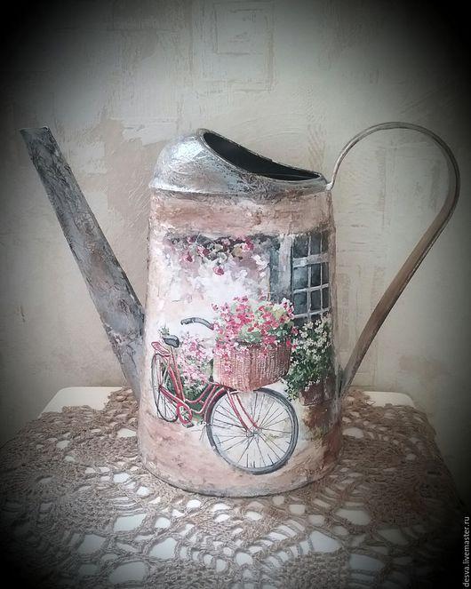 """Лейки ручной работы. Ярмарка Мастеров - ручная работа. Купить Лейка-ваза """"  У бабушки на даче"""". Handmade. Серый"""