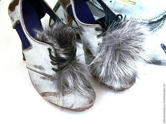 Обувь ручной работы. Ярмарка Мастеров - ручная работа. Купить Ботиночки Шабли. Handmade. Ботиночки, ботинки на шнуровке, перфорация