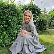Платья ручной работы. Ярмарка Мастеров - ручная работа Платье льняное. Handmade.