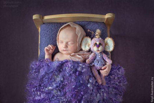 Для новорожденных, ручной работы. Ярмарка Мастеров - ручная работа. Купить Фон для фотосессии новорожденных. Handmade. Сиреневый, фон для новорожденного