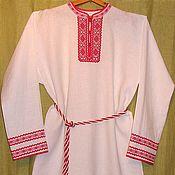 Русский стиль ручной работы. Ярмарка Мастеров - ручная работа Рубаха мужская льняная с ручной вышивкой 1. Handmade.