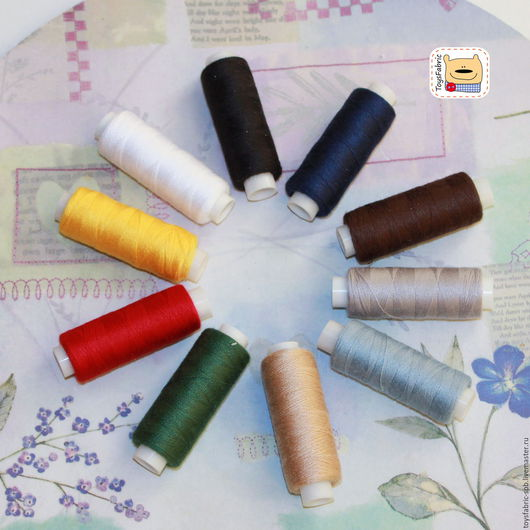 Шитье ручной работы. Ярмарка Мастеров - ручная работа. Купить Набор швейных ниток ассорти №1 (НН1) Цветной сет. Handmade.