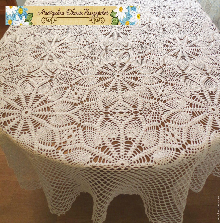 Attractive Home Textiles U0026 Carpets Handmade. Knitted Tablecloth U0027daisyu0027. Oksana  Vladarskaya. My
