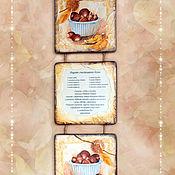 """Подарки к праздникам ручной работы. Ярмарка Мастеров - ручная работа Триптих """"Специи и орехи"""". 3 вида. Handmade."""