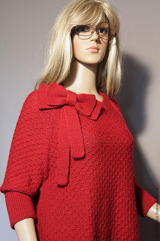 """Кофты и свитера ручной работы. Ярмарка Мастеров - ручная работа. Купить Вязаный пуловер """"Вивьен"""". Handmade. Бордовый, 35% шерсть"""