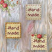 """Материалы для творчества ручной работы. Ярмарка Мастеров - ручная работа Наклейки """"Hand made"""" - 24 штуки. Handmade."""