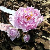 Украшения ручной работы. Ярмарка Мастеров - ручная работа Повязка с розовым пионом для девочки. Handmade.