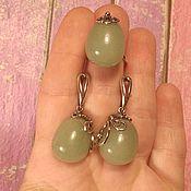 Украшения handmade. Livemaster - original item 182 Set silver earrings and ring with amber, jade,capalonga. Handmade.