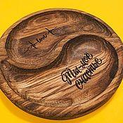 Менажницы ручной работы. Ярмарка Мастеров - ручная работа Менажница из дуба. Handmade.