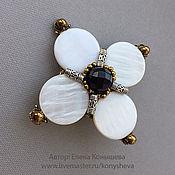 Украшения handmade. Livemaster - original item Brooch - flower with mother of pearl. Handmade.