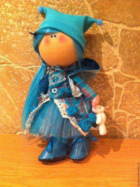 Куклы тыквоголовки ручной работы. Ярмарка Мастеров - ручная работа. Купить Кукла тыквоголовка в бирюзовом. Handmade. Тыквоголовка