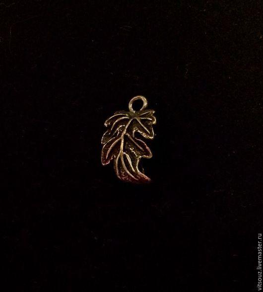 Арт. B17053 Подвеска `Лист` Цвет: Античная бронза