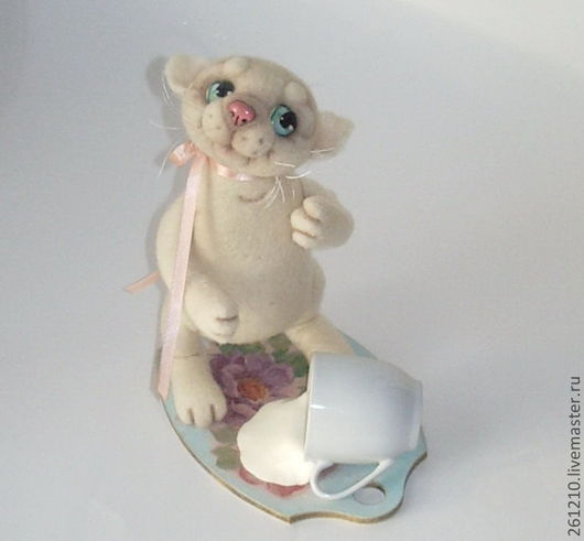 Игрушки животные, ручной работы. Ярмарка Мастеров - ручная работа. Купить Кошка  Плутовка, интерьерная игрушка из шерсти.. Handmade.