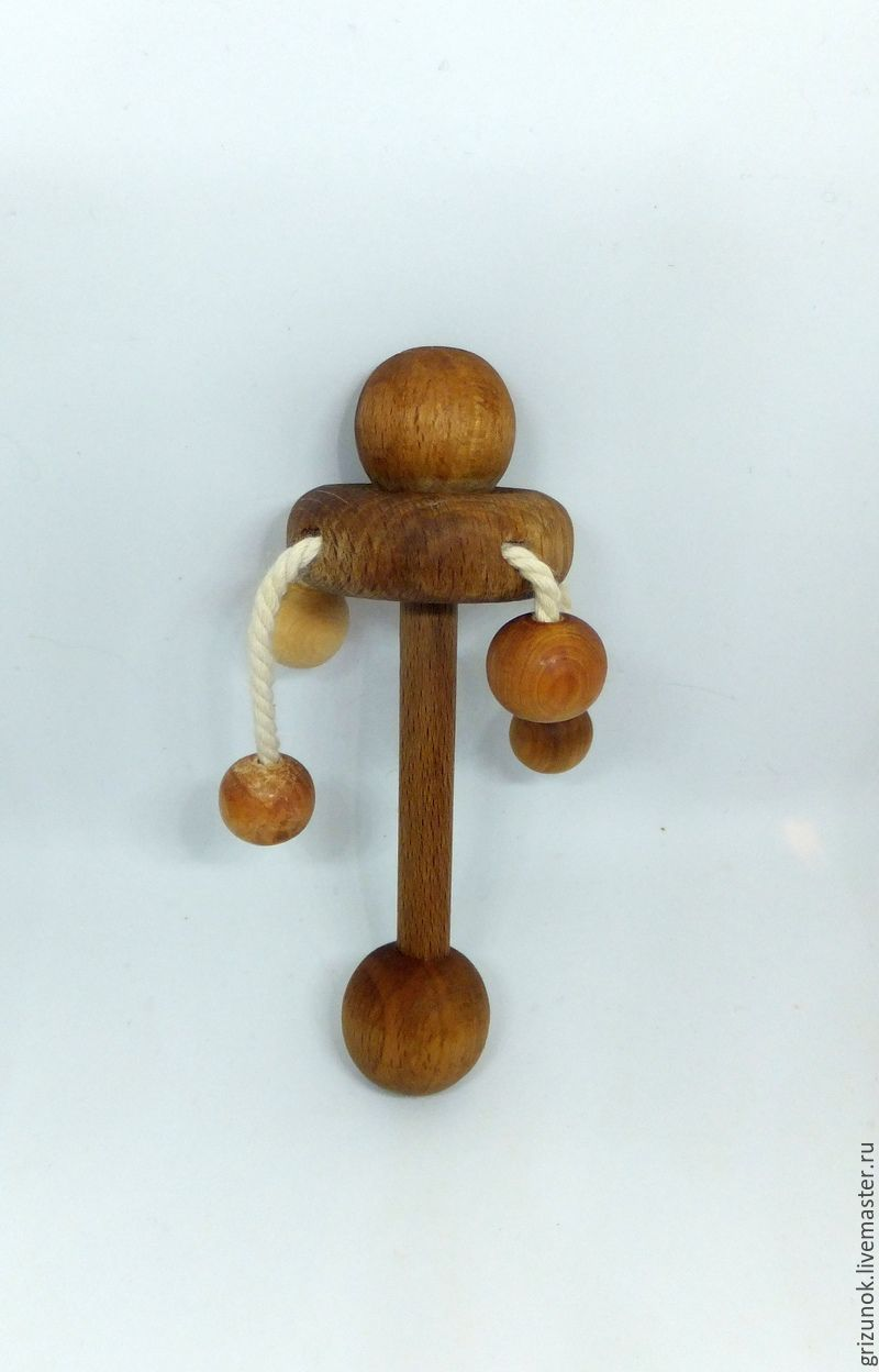 Wooden rattle harlequin, Teethers and rattles, Moscow,  Фото №1