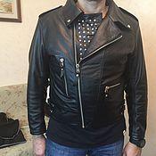 Одежда ручной работы. Ярмарка Мастеров - ручная работа Куртка натуральная кожа косоворотка. Handmade.